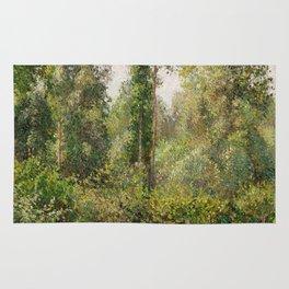 Camille Pissarro - Poplars, Éragny (1895) Rug
