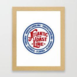 Atlantic Coast Line Framed Art Print