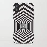 hexagon iPhone & iPod Cases featuring Hexagon by Vadeco