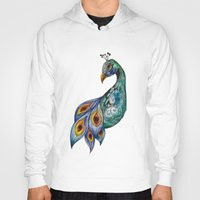peacock Hoodies featuring Peacock by SilviaGancheva