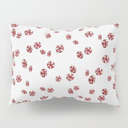 Peppermint Candy in White Pillow Sham