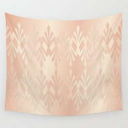 Art Deco Delicate Rose Gold Pattern Wall Tapestry