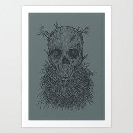 The Lumbermancer (Grey) Art Print