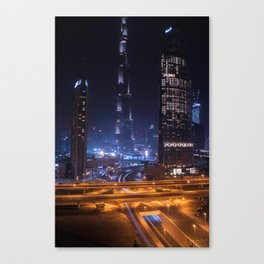 Rooftopping in Dubai Canvas Print