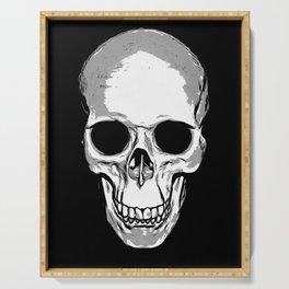 Monotone Skull Serving Tray