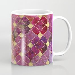 Informe Abstracta Burgundy Abstract Pattern Golden Rings Design Coffee Mug