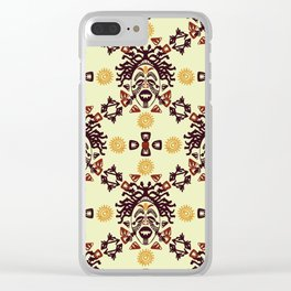 Tribal African mask ethnic Clear iPhone Case