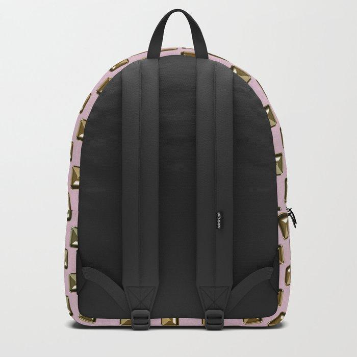 Rose quartz Elegance metal pattern Backpack