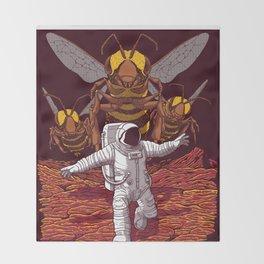 Killer bees on Mars. Throw Blanket