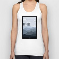 travel poster Tank Tops featuring Hoth Travel Poster by Tawd86
