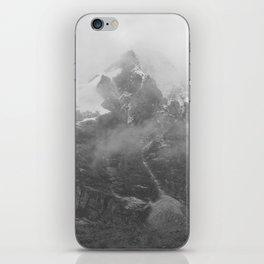 Rocky Mountain Fog B&W iPhone Skin