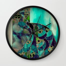 Mating Season Stained Glass Wall Clock
