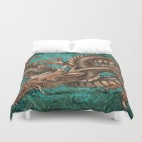 dragon Duvet Covers featuring Dragon by N.Kachaktano