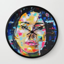 Color Space girl Wall Clock