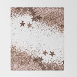 SHAKY STARS ROSEGOLD Throw Blanket