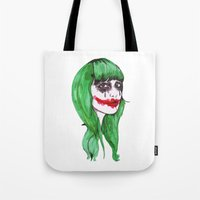 the joker Tote Bags featuring Joker by Annaleigh Louise