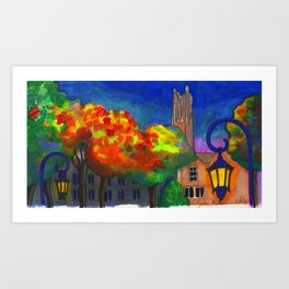 The Academic Quad Art Print