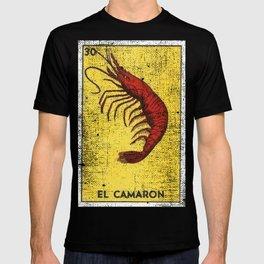 El Camaron Mexican Loteria Bingo Card T-shirt