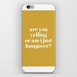 Hungover iPhone Skin