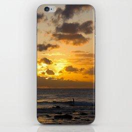 Sunrise Surfer iPhone Skin