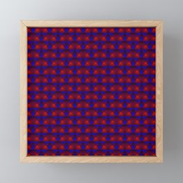 Chaotic pattern of purple squares and red pyramids. Framed Mini Art Print