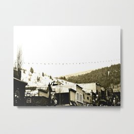 a town in   the snow Metal Print