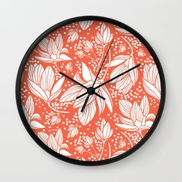 Magnolia Shower Wall Clock