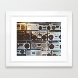 Boom boxes Framed Art Print