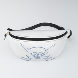 Skull and Cutlasses In Outline Fanny Pack