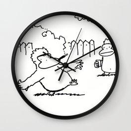 Cigar Ape Passes Through Wall Clock