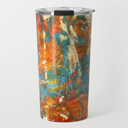 An Oasis In A Desert Abstract Painting Travel Mug