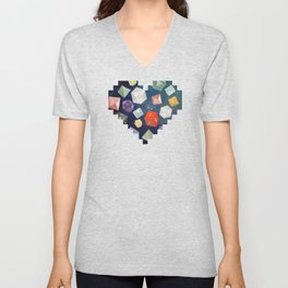 Heart of Dice Unisex V-Neck