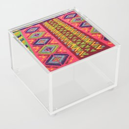 Colorful Guatemalan Alfombra Acrylic Box