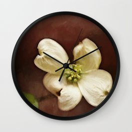 Dogwood Impression Wall Clock