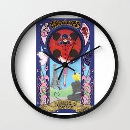 Miraculous Ladybug Nouveau Wall Clock