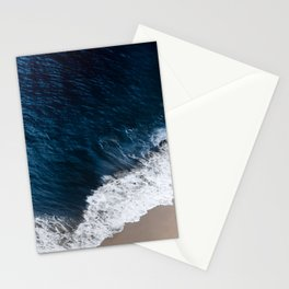 Deep blue shore Stationery Cards