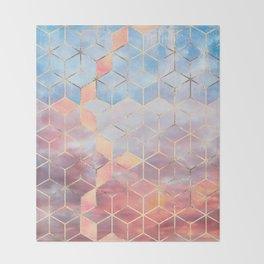 Magic Sky Cubes Throw Blanket