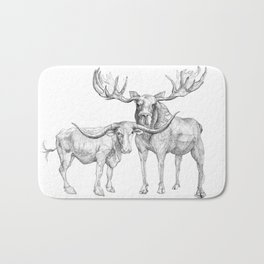Longhorn and Moose Bath Mat