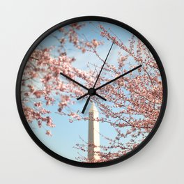 Washington DC Cherry Blossoms Wall Clock