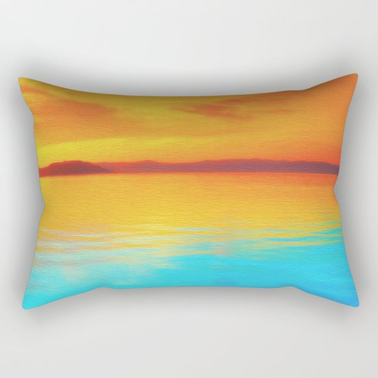 sunset beachh Rectangular Pillow