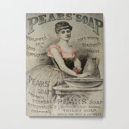 Pears Soap Advertisement  Metal Print