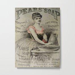Pears Soap Advertisement  Metal Print