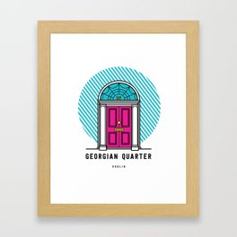 The Georgian Quarter Dublin Framed Art Print