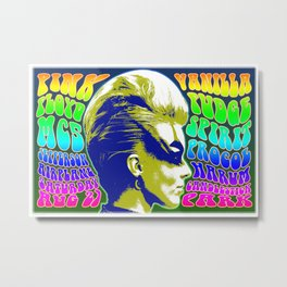Psychedelic Music Festival Poster II Metal Print