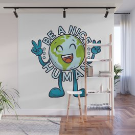Be A Nice Human Gift Equality Statement Feminist Feminism Emancipation Wall Mural