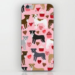 Pitbull valentine dog love rescue dogs valentines day hearts cupcakes dog gifts iPhone Skin
