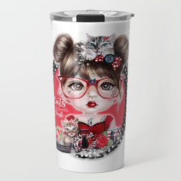 Cat Crazy Chloe - MunchkinZ Elf - Sheena Pike Art & Illustration Travel Mug