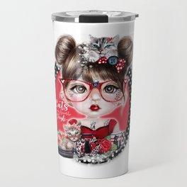 Cat Crazy Chloe - MunchkinZ Elf - Sheena Pike Art & Illustration Travel Mug