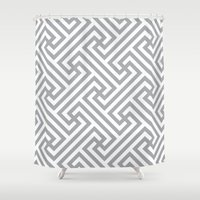 labyrinth Shower Curtains featuring Labyrinth. by Massimiliano Frattini