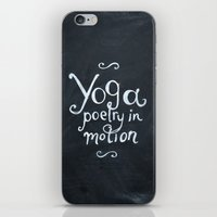 yoga iPhone & iPod Skins featuring YOGA! by Jon Cain